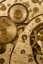 Rust mechanism of analog hours Royalty Free Stock Photo