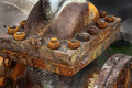 Rust on nuts and bolts. Royalty Free Stock Photo