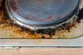 Rust stains on the electric stove old Royalty Free Stock Images
