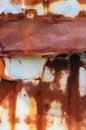 Rust on Tin Royalty Free Stock Photo