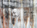 Rust zinc on with crack Royalty Free Stock Photo