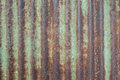 Rust on the zinc wall texture Royalty Free Stock Photo