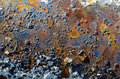 Rusted blistered paint textured background