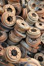 Rusted Brake Rotors Stock Image