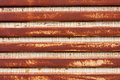 Rusted Corrugated Metal Stock Photo