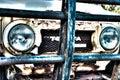 Rusted cruiser weather beaten toyota land Royalty Free Stock Photo