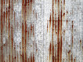 Rusted galvanized iron plate Royalty Free Stock Photo