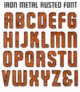 Rusted Metal Font Royalty Free Stock Photo