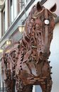 Rusted metal horse intricate design of a Royalty Free Stock Photo
