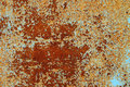 Rusted metal surface with peeling paint background Royalty Free Stock Photography