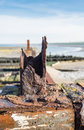 Rusted part of an old jetty Royalty Free Stock Photo