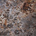 Rusted steel background with a rough structure Stock Photo