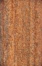 Rusted steel background siding on trash bin Stock Image