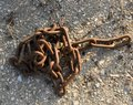The rusted steel chain Royalty Free Stock Photo