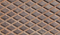 Rusted steel diamond plate background texture photo Royalty Free Stock Image