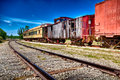 Rusted wagon trains Royalty Free Stock Images