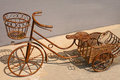 Rusted Wrought Iron Bicycle Royalty Free Stock Images