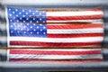 Vidiecky americký vlajka hviezdy pruhy
