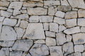 Rustic ancient handcraft tile stack stone wall as background in