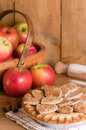Rustic Apple Pie Stock Image