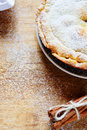 Rustic apple pie with cinnamon food closeup Royalty Free Stock Photos