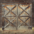 Rustic Barn Doors Royalty Free Stock Photo