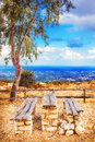 Rustic belvedere in the Rethymno area, Crete island Royalty Free Stock Photo