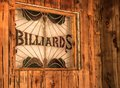 Rustic Billiards Sign Royalty Free Stock Photo