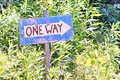 Rustic One-way Sign Royalty Free Stock Photo