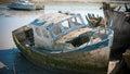 Rustic boats on a ship graveyards noirmoutier france april noirmoutier france Stock Photo