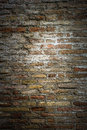 Rustic brick texture with center soft light Stock Images