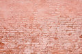Rustic brick wall as background soft light partly plastered and painted Royalty Free Stock Photo