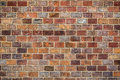 Rustic brickwork old brick wall texture retro toned Royalty Free Stock Photo