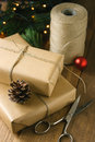Rustic Christmas Gifts On Wood...
