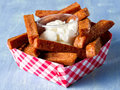 Rustic comfort food snack spam fries Royalty Free Stock Photo