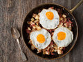 Rustic corned beef hash Royalty Free Stock Photo