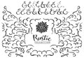 Rustic decorative curls, swirls and ampersands collection. Royalty Free Stock Photo