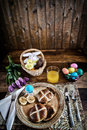 Rustic Easter Breakfast - Vertical Royalty Free Stock Images