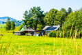 Rustic farm in Ukraine Royalty Free Stock Photo