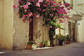 Rustic greek townhouse image of on a street in cretan town of chania greece Stock Images