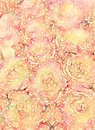 Rustic grungy antique floral rose bouquet background design Royalty Free Stock Photo