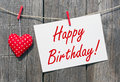 Rustic Happy Birthday message Royalty Free Stock Photo