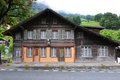 Rustic house in grindelwald switzerland Royalty Free Stock Image