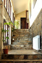 Rustic interior hallway and stairs Stock Photos