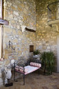 Rustic interior of an italian house a tuscan Stock Photography