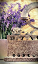 Rustic iron old irin and dry lavender Stock Photos