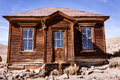 Rustic old house abandoned in bodie ghost town Royalty Free Stock Images