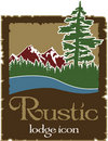 Rustic outdoors logo with copy space Stock Images