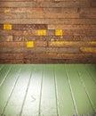 Vidiecky namaľovaný drevo