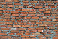 Rustic red brick wall background Royalty Free Stock Images